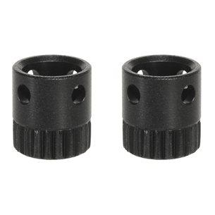 Push & Go Hylsa Rembygelfäste 2 st / set Ø 9,5 x 1,0 mm, svart, trästock, låsbar