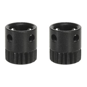 Push & Go Hylsa Rembygelfäste 2 st / set Ø 6,0 x 1,0 mm, svart, trä, låsb