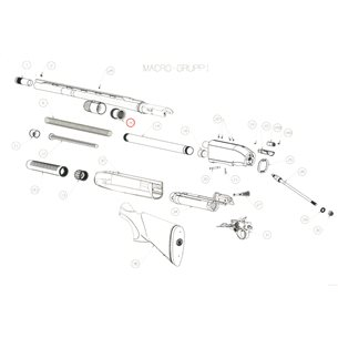 Piston assy, Beretta 1301