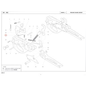 Cartridge drop lever spring, Benelli M2