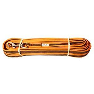 Hund spårlina Friktion 15m 20mm Orange