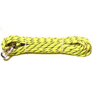 Hund bruks spårlina m inflätad reflex 6mm/15m gul