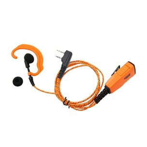 Headset och mikrofon, tygkabel, vinklad, orange