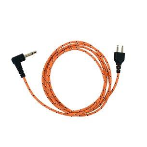 ICOM Kabel för Peltor orange tygkabel 3,5mm-1,25mm, 2pol