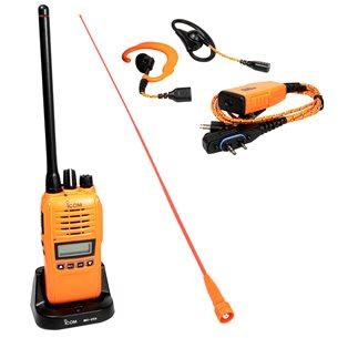 ProHunt Basic 2 jaktradiopaket Orange Svensk version. Radio+headset+lång antenn