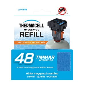 Thermacell Refill Backpacker med 12 mattor/48 timmar