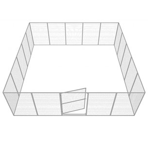 Hundgård Robust 19+1 st 36 m2 XXL