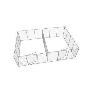 Hundgård Robust Dubbel 22+2 st 17 m2 x 2