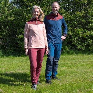 2117 Sikvik Fleecejacka Med Huva Herr Blå/Röd