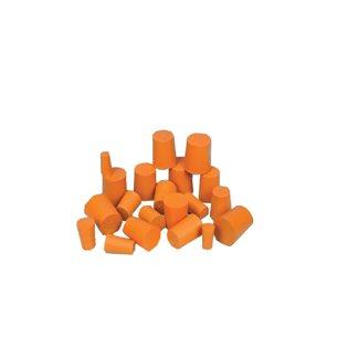 Gummiproppar - koniska, till provrör, 10 st