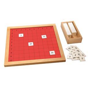 Multiplikationsbräde - Montessori