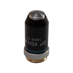 Objektiv, 60x, halvplant, akromatiskt, för mikroskp BMS EDU-LED