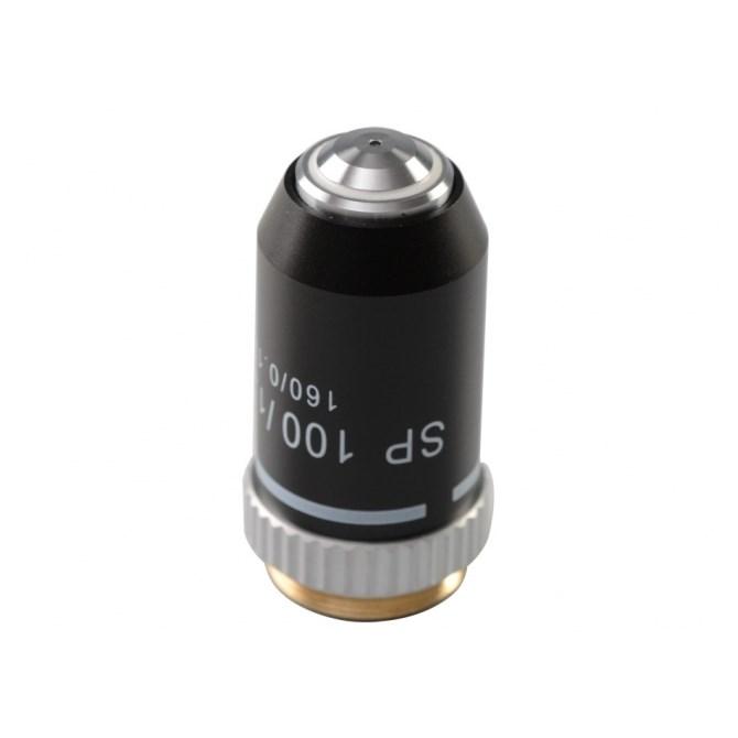 Objektiv, 100x akromatiskt, halvplant - för mikroskop i BMS-serien