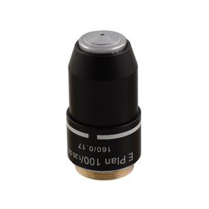 Objektiv, 100x E-plan, immerssionsolja, för mikroskop BMS D1