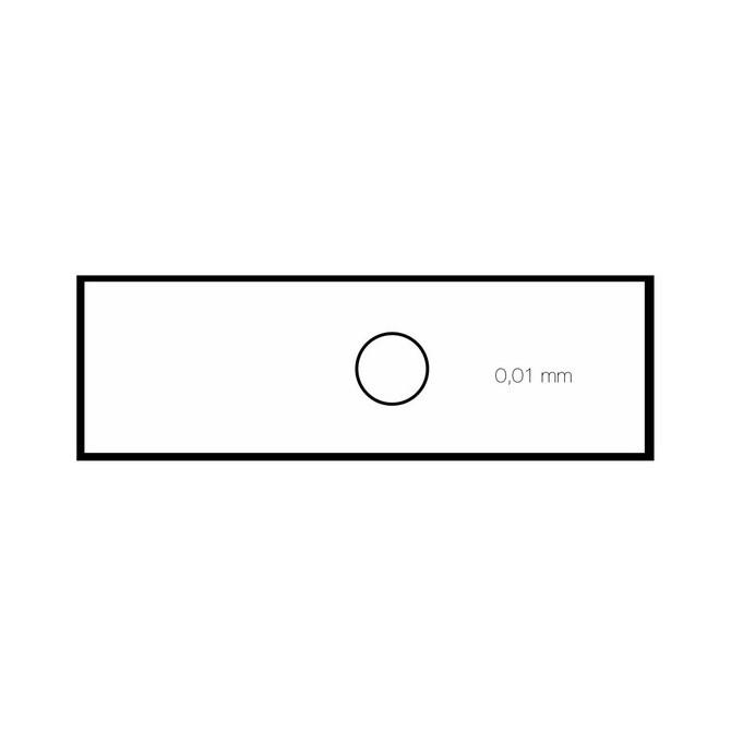 Mikrometerskala för kalibrering av mikroskop/stereolupp