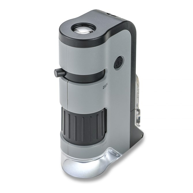 Carson Micro Flip - fickmikroskop för bl.a. objektglas, 100 - 250x