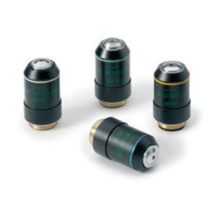 Objektiv, 4x, halvplant, oändlighetskorrigerat, akromatiskt, för mikroskop Oxion