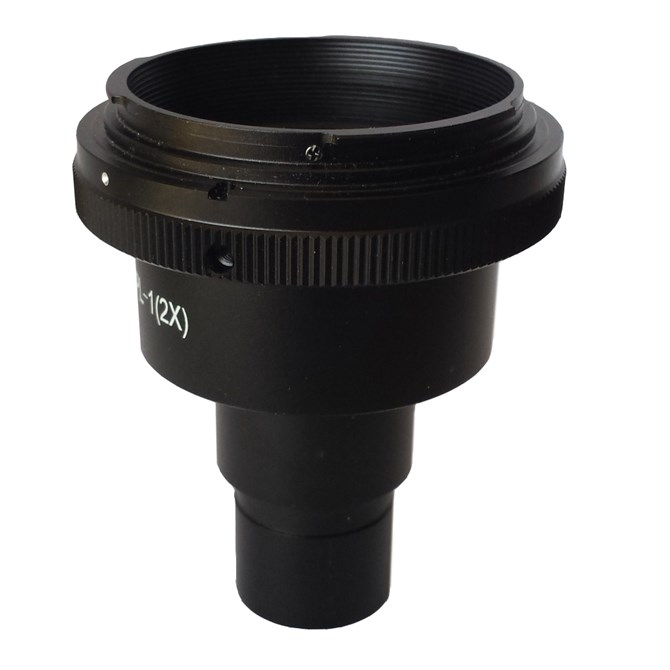 Fotoadapter med 2,0x okular för DSLR-kamera, till 23mm okularfattning