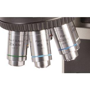 Objektiv, 4x, oändlighetskorrigerat, plant - för mikroskop Euromex, Delphie X Observer