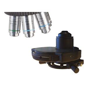 Faskontrastset med tillhörande objektiv, 10, 20, 40 och 100x - för mikroskop