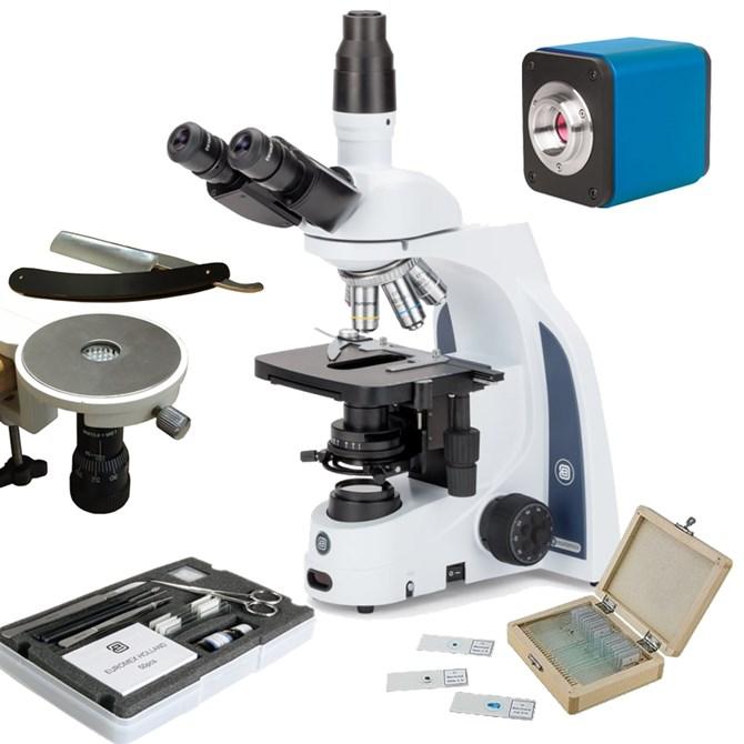 Mikrofotopaket fas, Iscope Zernike, 100, 200, 400 och 1000x