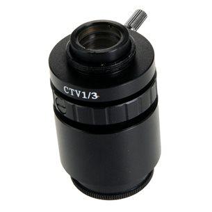 Adapter, C-gänga, 0,33x lins, för 1/3 tums kameror.
