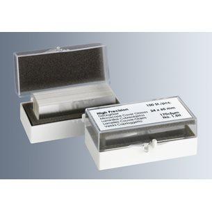 Täckglas, precision +/- 0,5 um, tjocklek 1,5H för mikroskop