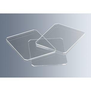 Täckglas för räknekammare/haemosytometer, 0,4mm, optiskt glas - för mikroskop