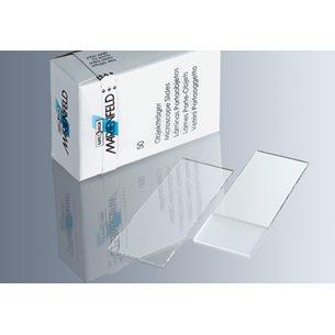 Objektglas, 76 x 26mm, frostad skrivyta, DIN ISO 8037/1 - för mikroskop