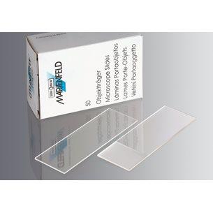 Objektglas, 76 x 26mm, slipad kant, frostad skrivyta DIN ISO 8037/1 - för mikroskop