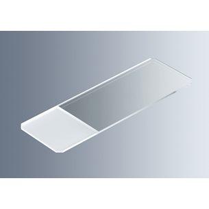Objektglas76 x 26mm, 1 mm, +/-0,05 mm, frostad skrivyta, fasade hörn,