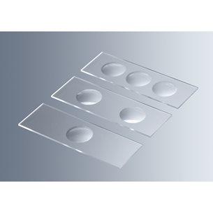 Objektglas med fördjupningar, 50 glas, IVD 98/79/EC, CE-märkt - för mikroskop