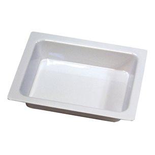 Bricka, hög kant, blank hårdplast