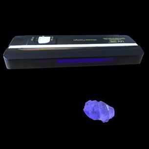 UV-lampa, kort- och långvågigt ljus för mineraler