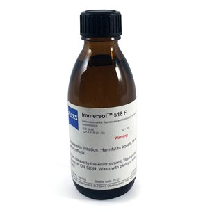 Immersionsolja Immersol 518 F, flaska 100 ml, från Zeiss