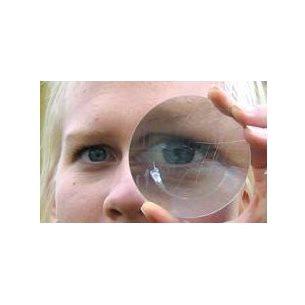 Konvex glaslins för att bygga ett enkelt teleskop