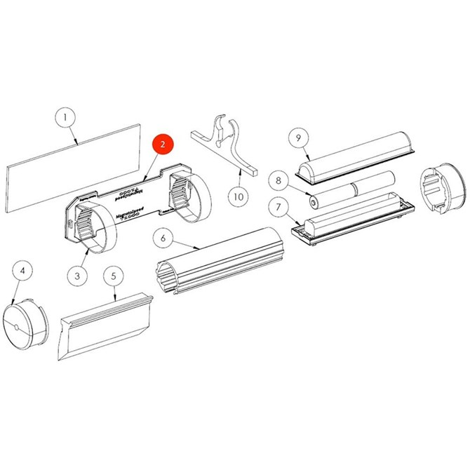 MagnetoSpeed Mounting Plate w/integrated hooks, T1000