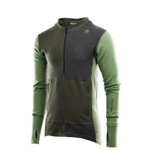 Aclima WarmWool Hoodsweater Zip Man Olive Night/Dill