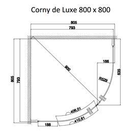 Duschbyggarna Brusehjørne Corny De Luxe 800X800 Krom Secret