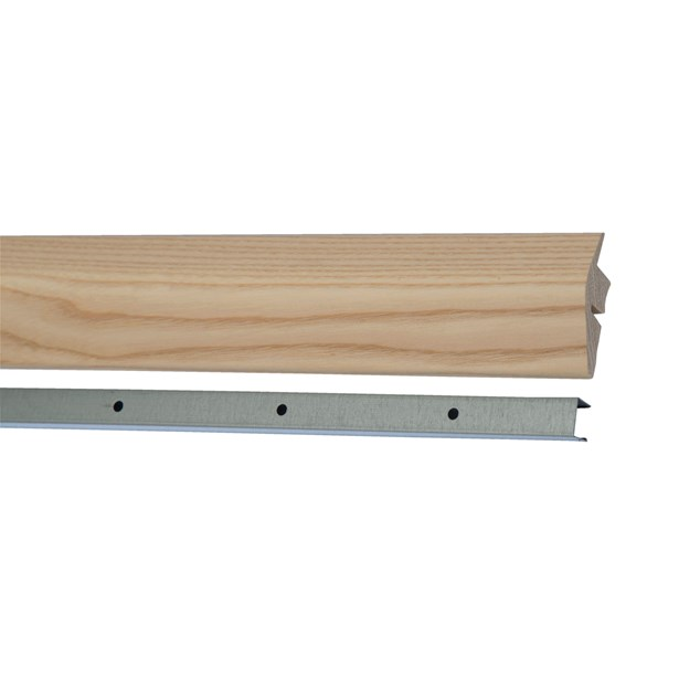 Kährs Massiv Niveauliste 58x20 mm til 14-20 mm inkl underlag - Ask lak