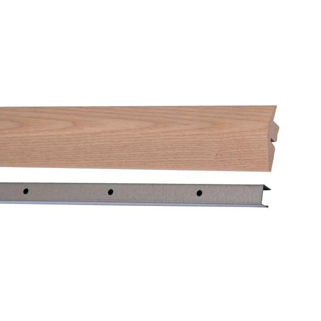 Kährs Massiv Niveauliste 58x20 mm til 14-20 mm inkl underlag - Ask Sandvig/Falsterbo/Skagen/Mariehamn/Ceriale matlak