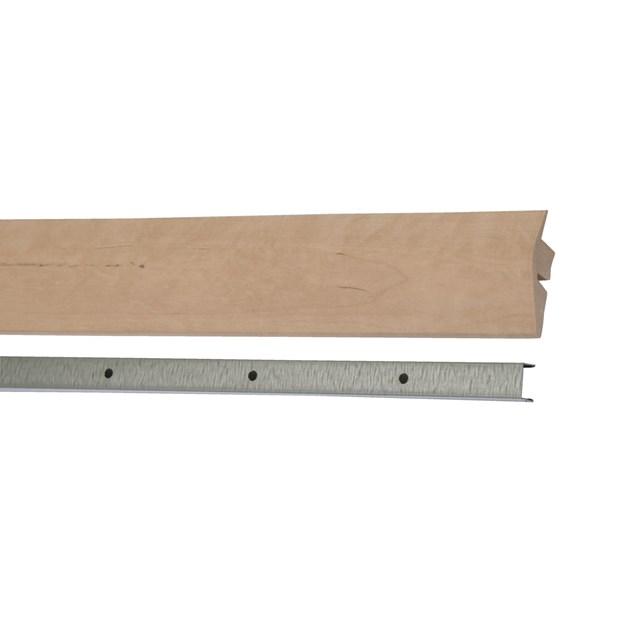 Kährs Massiv Niveauliste 58x20 mm til 14-20 mm inkl underlag - Birk lak