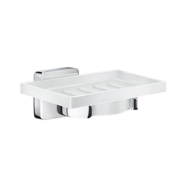 Smedbo Ice Sæbeskål Krom/Hvid Porcelæn