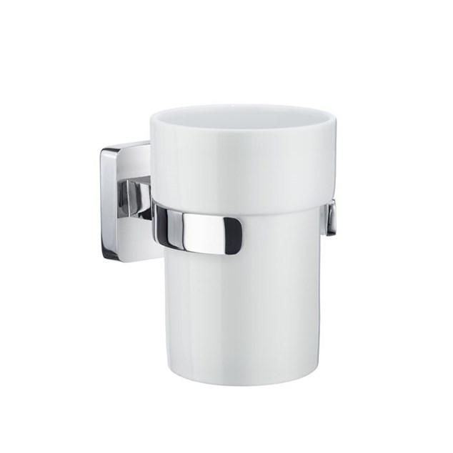 Smedbo Ice Tandkrus Krom/Hvid Porcelæn