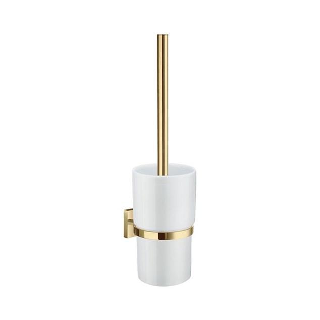 Smedbo House Toiletbørste Væggmonteret -  Messing/Porcelæn