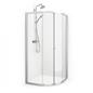Macro Design Fjord Semi Hjørne 1010x1010 Mat Profil Klart Glas Lav