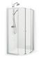 Macro Design Flow Semi Hjørne 810x910 Mat Profil Matteret Glas