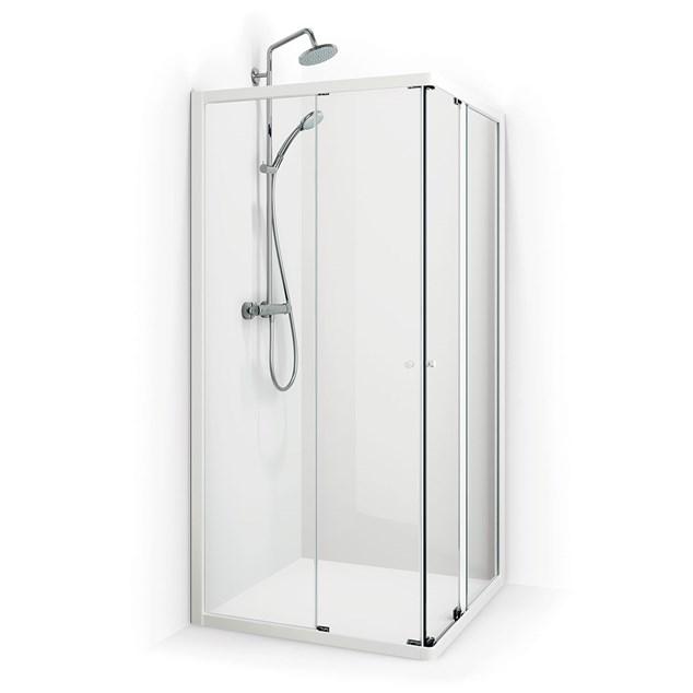 Macro Design Brusehjørne Fjord Lige 1010 Forkromet Frostet Glas