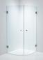 Duschbyggarna Brusehjørne Corny Design 800X800 Klart Glas