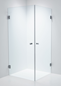 Duschbyggarna Brusehjørne Twin Design 800X900 Klart Glas